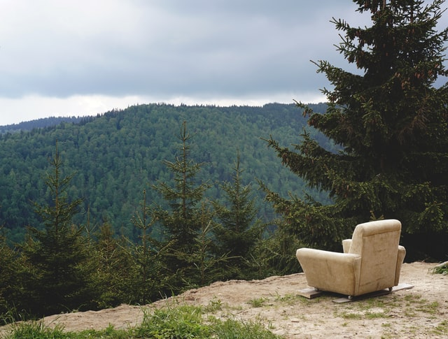 stilte op een berg